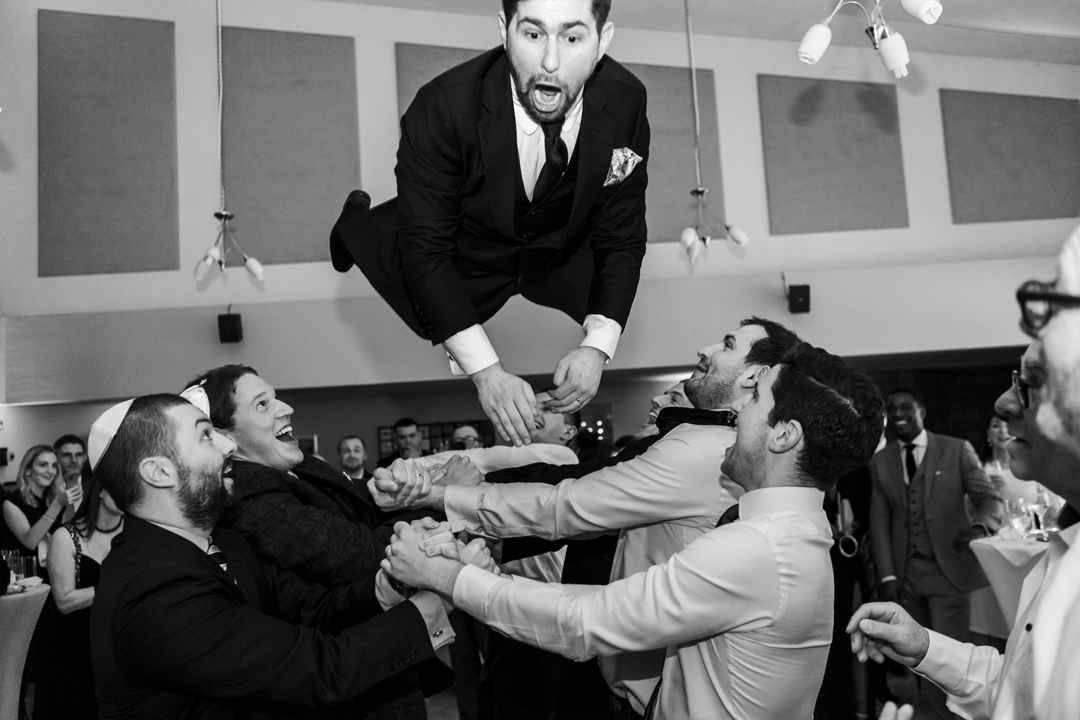 The Hora Jewish wedding dance celebrations